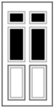 2 Panel 4 Glazed Composite Front Doors