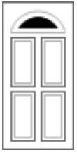 4 Panel 1 Half Composite Doors