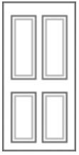 4 Panel Composite Front Doors