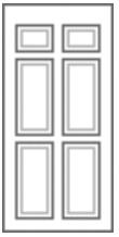 6 Panel Composite Front Doors