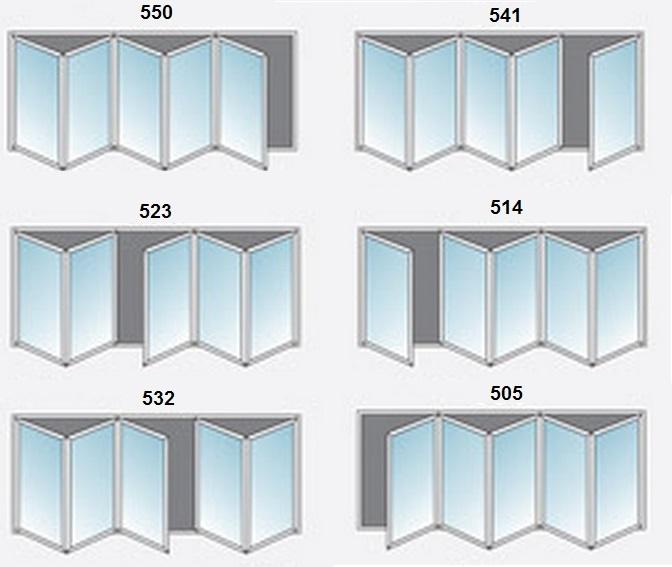 5 Panel White Upvc Bifold Door Glazed