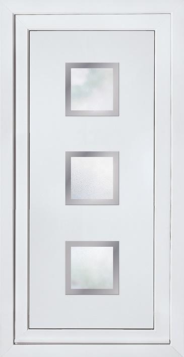 Modern Contemporary Glazed Panels Upvc Door Panel Door