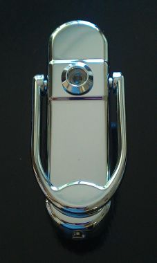 Chrome Affinity Door Knocker With Or Without Spy Hole