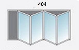 4 Panel White Upvc Bifold Door Glazed