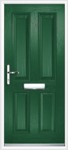 4 Panel Composite Front Door, Green