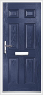 6 Panel Composite Front Door Blue