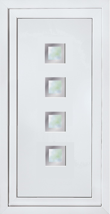 Modern contemporary glazed panels upvc door panel door Modern white front door