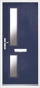 2 Rectangle Glazed Composite Door Blue