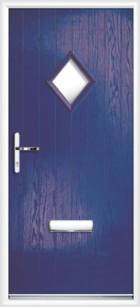 1 Diamond Glazed Composite Front Door Blue