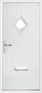 1 Diamond Glazed Composite Front Door White