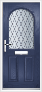 2 Panel Half Arch Diamond Composite Door Blue
