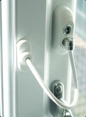 White UAP Window and Door Safety Restrictor Cable