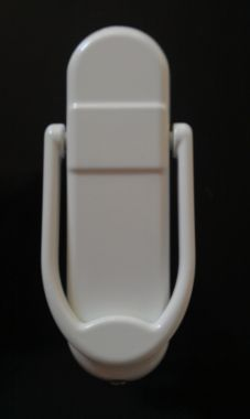 White Affinity Door Knocker, With or Without Spy Hole